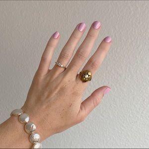 Vintage Brass Flower Ring